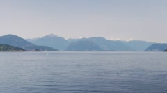 Epic Vast Cove Inlet on the Sunshine Coast of Vancouver Stock Footage