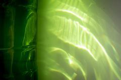 Green Reflection Light - stock photo