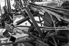 Piles of Scrap Metal Stock Photos