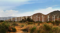 Massive Windmill Farm in California Stock Footage