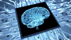 Brain on a chip intro dynamic HD Stock Footage