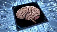 Brain on a chip loop slow 4K Stock Footage