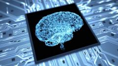 Brain on a chip loop dynamic 4K Stock Footage