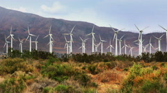 Massive Windmill Farm in California Stock Footage