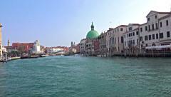 4K Grande canal POV gondola ride with view of Degli Scalz bridge Stock Footage