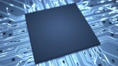 Stock Video Footage of Big data chip background loop 4K