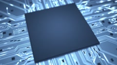 Stock Video Footage of Big data chip background loop HD