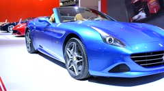 Ferrari California T convertible sports car Stock Footage