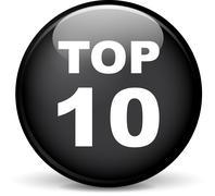 top ten icon - stock illustration