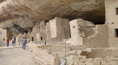 Mesa Verde National Park, Spruce Tree House, Colorado Stock Footage