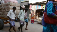 Street scene, George Town, Chennai, India Stock Footage