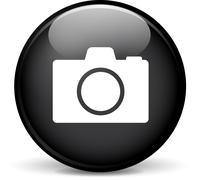 photograph icon - stock illustration