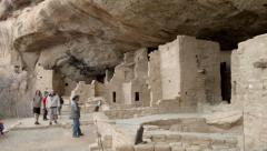 Mesa Verde National Park Spruce Tree House panning shot - stock footage