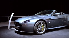 Aston Martin V8 Vantage N430 Roadster sports car - stock footage