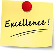 Excellence note Stock Illustration