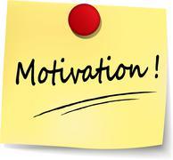 motivation note - stock illustration