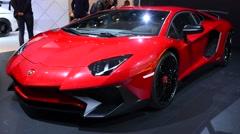 Lamborghini Aventador LP 750-4 Superveloce supercar Stock Footage