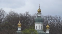 Dome of the old church, 11th century Stock Footage