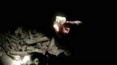 Ancient Human Remains Discovered in a Sea Cave in- PALAU Stock Footage