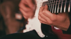 Guitarist Playing Guitar in the Studio Stock Footage