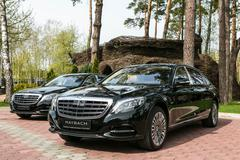 Stock Photo of Ukraine, Kiev - April 23, 2015: Mercedes-Maybach S 600 2015 Test Drive