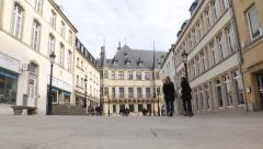 The Grand Ducal Palace in Luxembourg. Stock Footage