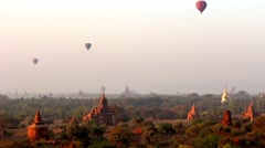 Hot Air Balloons over Bagan 2 - stock footage