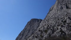 mountains near the city of Sevastopol - stock footage