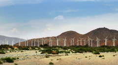 Massive Windmill Farm in California - stock footage