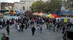 African festival trafalgar square 2 Stock Footage