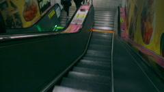 Running Escalator at Taipei Metro East Gate Station. HD Stock Footage