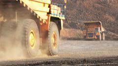 dump truck in pit mine - stock footage
