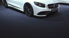 Mercedes-Benz S-Class Coupe luxury car Stock Footage