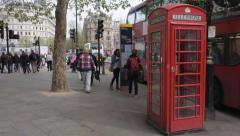 Red Phone Box London Stock Footage
