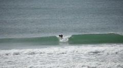 Surfing on campeche beach Brasil Stock Footage