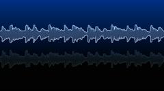 Double audio waveform (equalizer - 60 seconds) Stock Footage