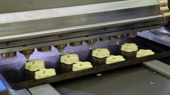 Industrial production systems for the bakery industry Stock Footage