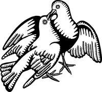 Love Doves Stock Illustration