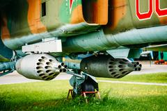 Russian Soviet Mikoyan MiG-27 is a variable-geometry ground-atta Stock Photos