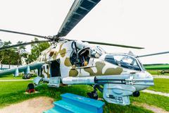 Russian Soviet multi-purpose transport helicopter Mi-24 Stock Photos