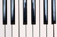 Close up of Keybord of synthetizer - stock photo