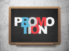 Stock Illustration of Marketing concept: Promotion on School Board background