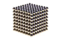 Cube made of  magnetic beads - stock photo
