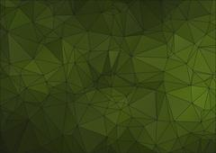 Green abstract polygonal background for web - stock illustration