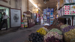 Dubai Spice Souk  or the Old Souk is a traditional market  in Dubai,  UAE Stock Footage