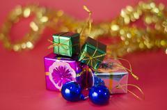 Item decorate for christmas tree Stock Photos