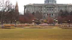 Denver capitol tilt up Stock Footage
