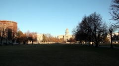 Denver capitol zoom winter Stock Footage