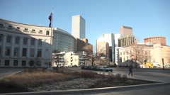 Denver city and county building pan - stock footage