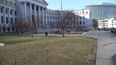 Denver city and county building tilt up Stock Footage